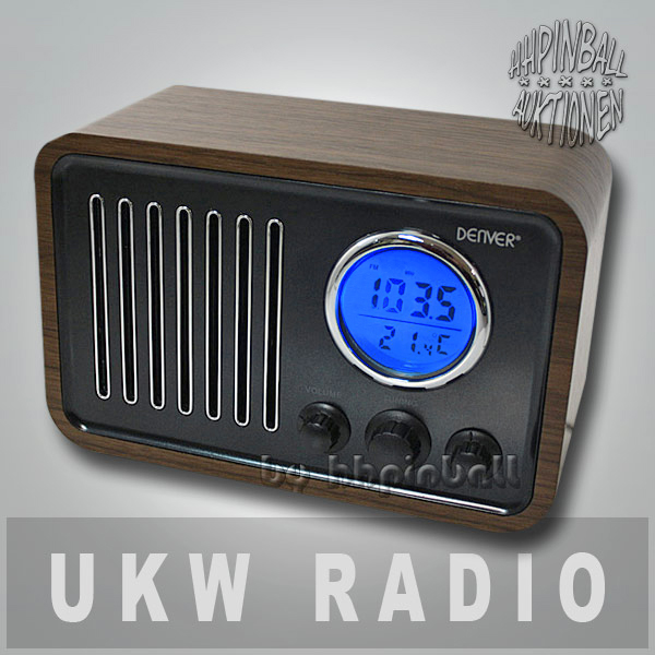 denver tr39 retro design ukw radio wecker thermometer k chenradio holz line in ebay. Black Bedroom Furniture Sets. Home Design Ideas