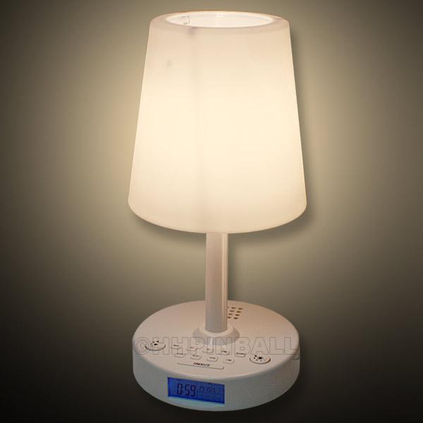 wecklampe lichtwecker radio uhr licht wecker leuchtuhr dimmer nachtlicht lampe ebay. Black Bedroom Furniture Sets. Home Design Ideas