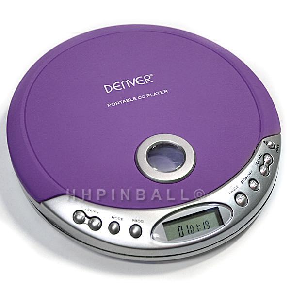 denver tragbarer design cd player discman cd r cd rw lila purple dm 20c ebay. Black Bedroom Furniture Sets. Home Design Ideas