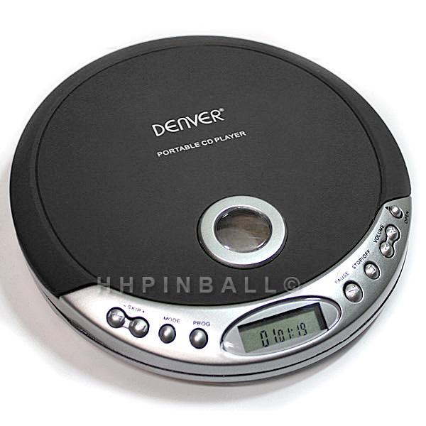 denver tragbarer design cd player discman cd r cd rw schwarz dm 20c ebay. Black Bedroom Furniture Sets. Home Design Ideas