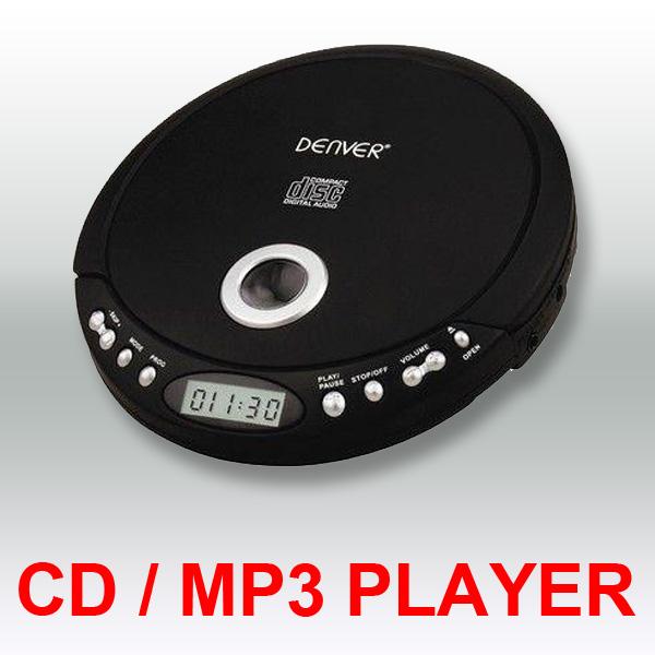 denver tragbarer design cd player discman mp3 cd r cd rw h rbuchfunktion schwarz online kaufen. Black Bedroom Furniture Sets. Home Design Ideas