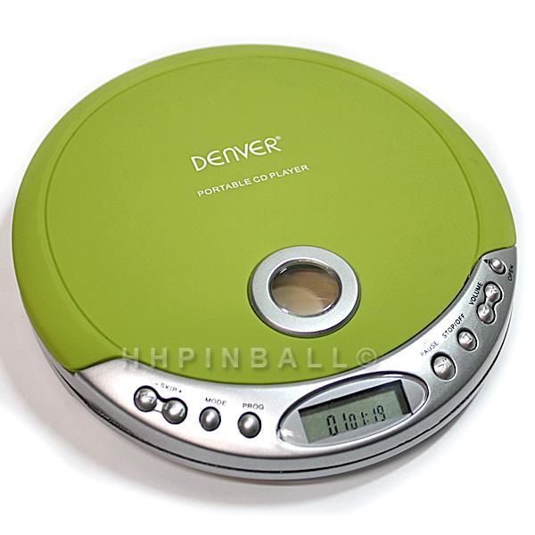 denver tragbarer design cd player discman cd r cd rw gr n dm 20c ebay. Black Bedroom Furniture Sets. Home Design Ideas