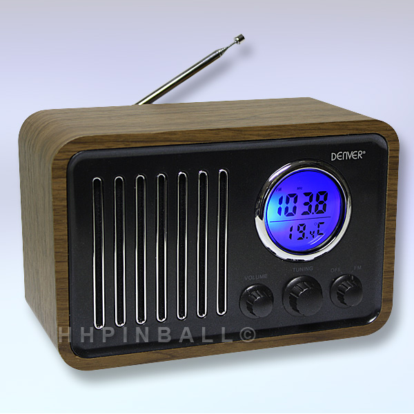 denver tr 39 retro design ukw radio wecker thermometer k chenradio holz line in ebay. Black Bedroom Furniture Sets. Home Design Ideas