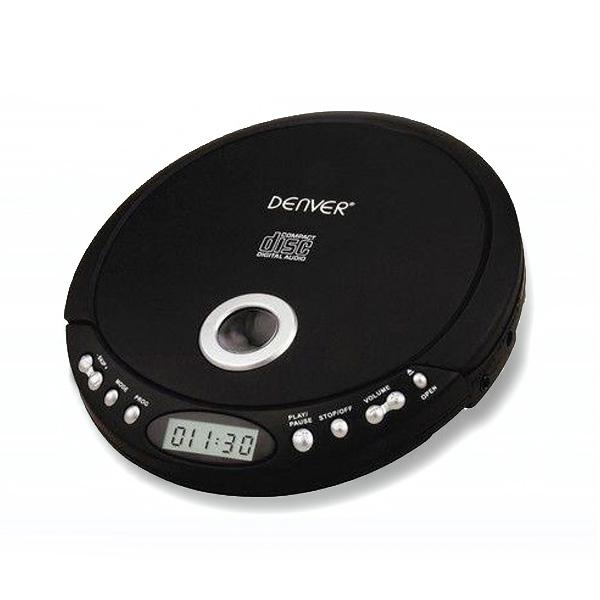 denver tragbarer design cd player discman mp3 cd r cd rw h rbuchfunktion schwarz ebay. Black Bedroom Furniture Sets. Home Design Ideas