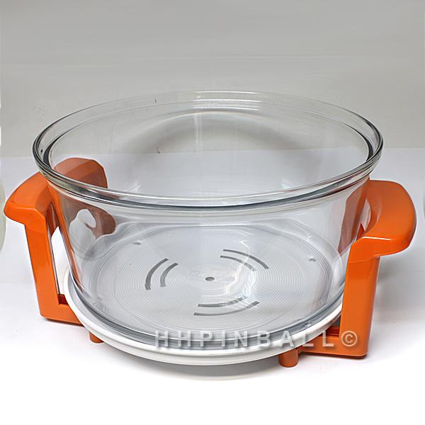 ersatzteil kochschale schale f r halogen hei luftofen hei luft ofen orange. Black Bedroom Furniture Sets. Home Design Ideas