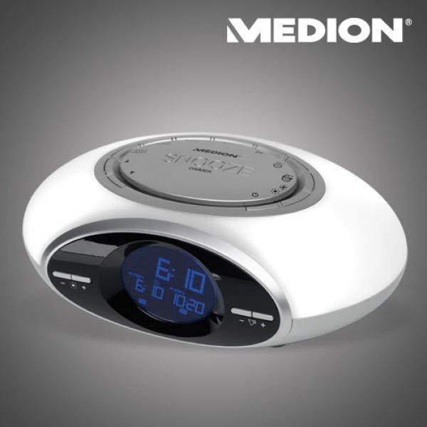 MEDION-LEUCHTWECKER-LICHT-WECKER-LEUCHTUHR-NATURKLANGE-RADIO-UHR-LICHTWECKER