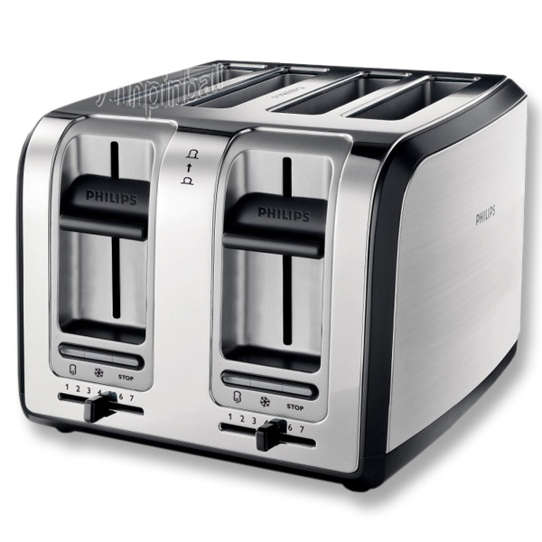 philips design 4 scheiben toaster edelstahl satiniert 1800w top b ware ebay. Black Bedroom Furniture Sets. Home Design Ideas