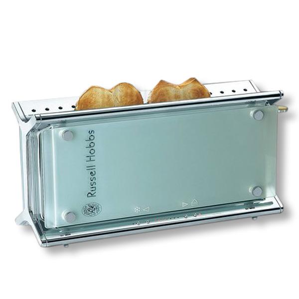 russell hobbs glass line toaster design glas edelstahl edel langschlitztoaster ebay. Black Bedroom Furniture Sets. Home Design Ideas