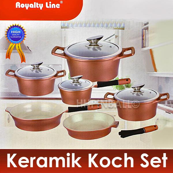 Royalty line keramik koch set induktion topf pfanne - Set de cuchillos royalty line ...