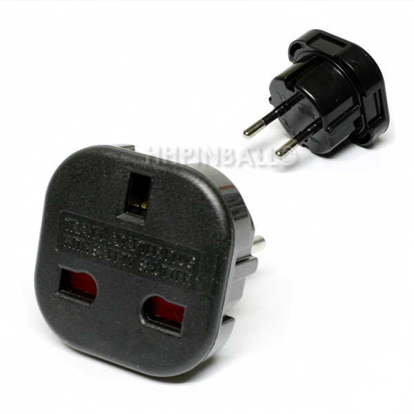 strom netzadapter netz adapter schuko stecker uk england gb schwarz neu. Black Bedroom Furniture Sets. Home Design Ideas