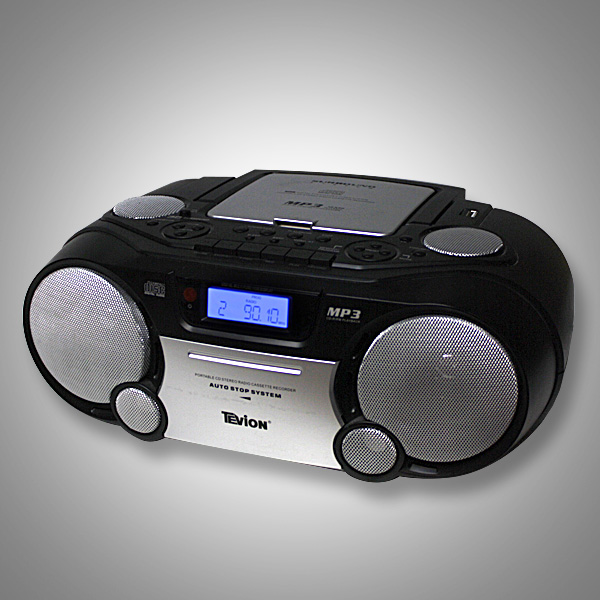 MEDION-TEVION-STEREO-RADIORECORDER-CD-PLAYER-MP3-USB-PORT-CD-PLAYER-schwarz