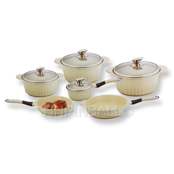 royalty line keramik kochset induktion topf pfanne bratpfanne kochtopf geriffelt ebay