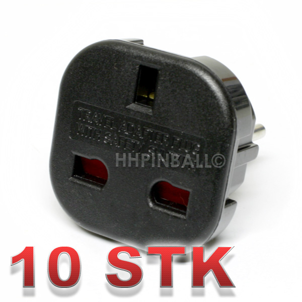 10er set strom netzadapter netz adapter schuko stecker uk england gb schwarz neu ebay. Black Bedroom Furniture Sets. Home Design Ideas