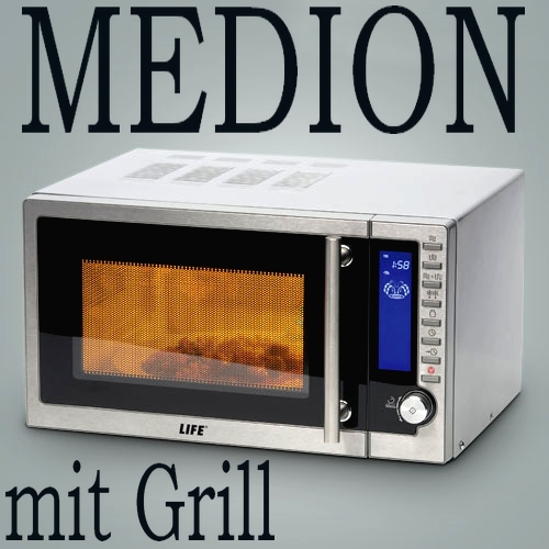 Medion life md 12434 mikrowelle edelstahl mit grill 20l for Md 99334 bedienungsanleitung