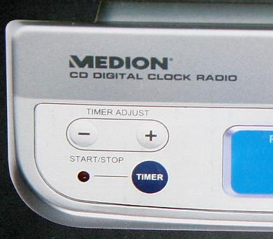 medion life unterbau design stereo k chenradio radio cd player lcd display ebay. Black Bedroom Furniture Sets. Home Design Ideas