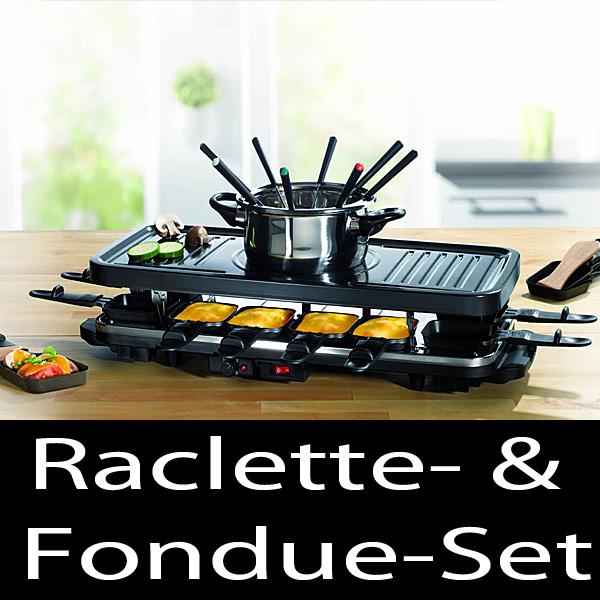 gourmet maxx raclette und fondue set bis zu 12 personen gro es zubeh r ebay. Black Bedroom Furniture Sets. Home Design Ideas