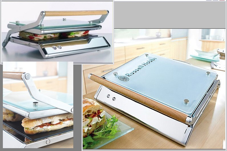 russell hobbs glass line panini toaster top design b ebay. Black Bedroom Furniture Sets. Home Design Ideas