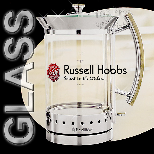 russell hobbs design glass line wasserkocher 13421 glas ebay. Black Bedroom Furniture Sets. Home Design Ideas