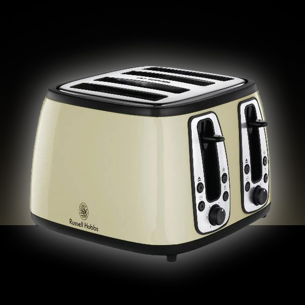 russell hobbs 4 scheiben toaster 18369 retro design creame cream ebay. Black Bedroom Furniture Sets. Home Design Ideas