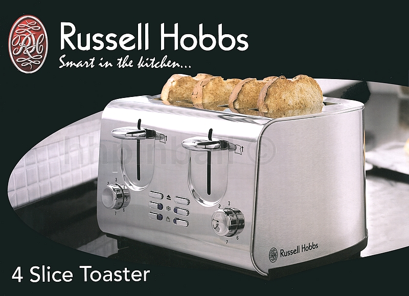 cooler russell hobbs american design 4 scheiben toaster edelstahl ebay. Black Bedroom Furniture Sets. Home Design Ideas